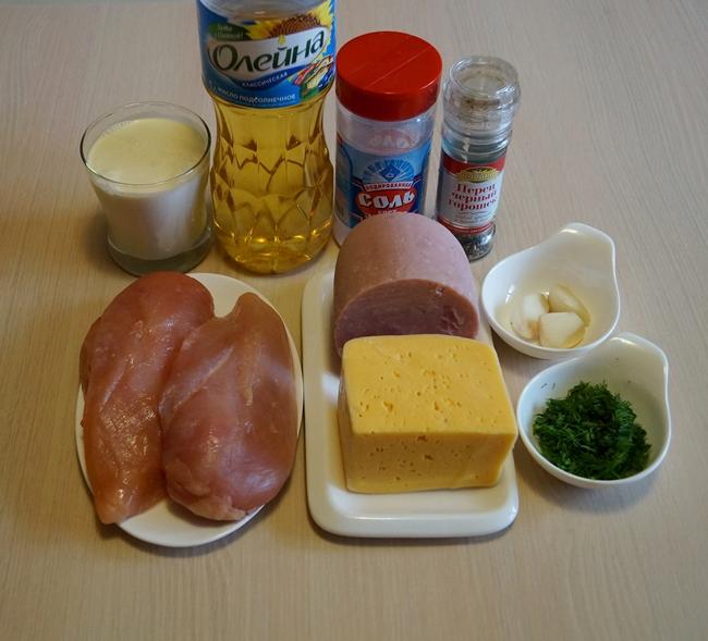 рулетики кордон блю в сливочном соусе пошаговый рецепт с фото